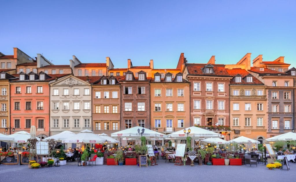 Warsaw, Krakow and Prague