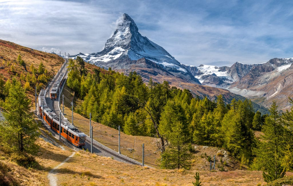 Matterhorn and the Glacier Express